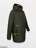 """Жіноча тепла куртка-парка """"Теннессі"""", хакі, фото 5"""