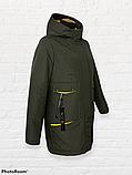 """Жіноча тепла куртка-парку """"Теннессі"""", хакі, фото 5"""