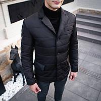 Куртка-пиджак мужской Pobedov Jacket элегантный демисезонный жакет черного цвета