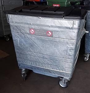 TAYLOR оцинкований сміттєвий контейнер 1,1 м3.