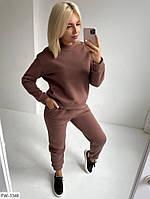 Зручний теплий спортивний костюм з начосом світшот і штани з кишенями арт 226