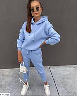 Гарний спортивний костюм жіночий з якісної трехнитки і рибаны толстовка і штани арт 149