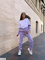 Гарний спортивний костюм жіночий з трехнитки світшот і штани двоколірний осінній арт 910
