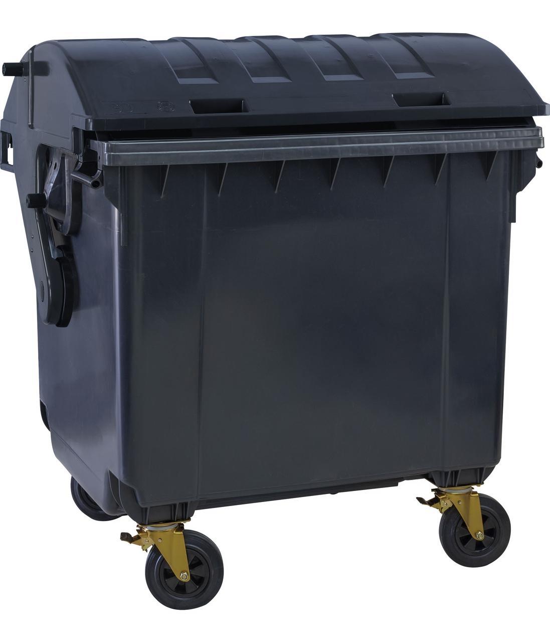 ESE пластиковий сміттєвий контейнер для ТПВ із сферичною кришкою 1,1 м3.