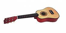 Игрушечная гитара M 1370 деревянная  (Натуральный)