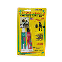 Клей эпоксидный для металла 4-минутный (14,2г) Abro ES-508