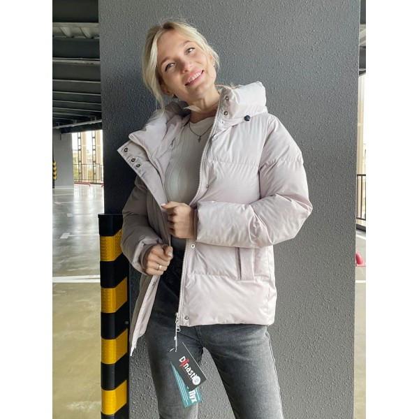 Пуховик жіночий зимовий з капюшоном биопух