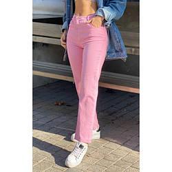 Джинсы лето свободного фасона UPPER розовый