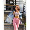 Джинсы лето свободного фасона UPPER розовый, фото 2