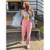 Джинсы лето свободного фасона UPPER розовый, фото 3