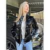Куртка-пуховик демісезонний глянцевий Beauty биопух, фото 2