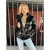 Куртка-пуховик демісезонний глянцевий Beauty биопух, фото 3