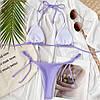 Купальник трикотажний бікіні на зав'язках, фото 4