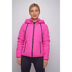 Куртка женская укороченная весенняя 42, малиновый