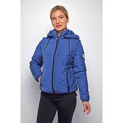Куртка женская укороченная весенняя 44, синий