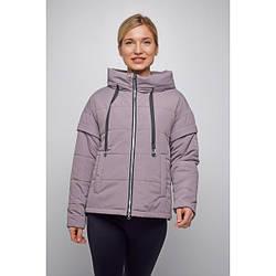 Куртка женская  укороченная свободный силуэт 2021 L, сиреневый
