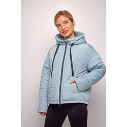 Куртка женская  укороченная свободный силуэт 2021 L, фисташковый
