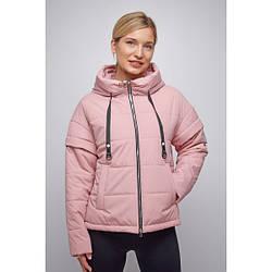 Куртка женская  укороченная свободный силуэт 2021 L, пудровый