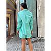 Костюм жіночий бавовняний сорочка з шортами, фото 2