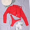 Купальник шторка плавки-бікіні з топом із сітки, фото 4