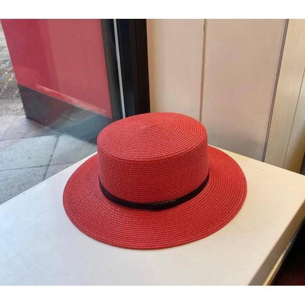 Шляпа-канотье с кожаным ремешком