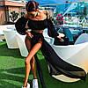Костюм шифоновый пляжный юбка+топ с рукавами, фото 3