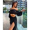 Костюм шифоновый пляжный юбка+топ с рукавами, фото 4