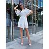 Платье с пышным рукавом и золотыми пуговицами, фото 2