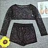 Купальник-костюм в сіточку з блискітками 4в1, фото 3