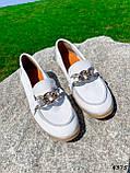 Балетки жіночі Mona білі 4375, фото 9