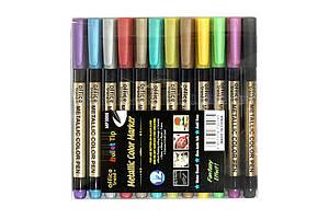 Набір маркерів металік 12 шт ООПТ