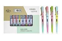 Ручка пір'яна ООПТ пластикова, відкрите перо, поршнева зі змінним механізмом 20шт/уп