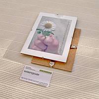 Антирама бюджетная 130х180мм антирамка стеклянная безбагетная клямерная рама рамка-клип рамка без рамки, фото 1
