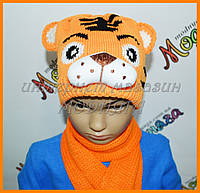 Детские трикотажные шапки | Шапки для девочек Cat