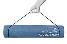Коврик для йоги и фитнеса PowerPlay 4010 (173*61* 0.6) Cиний