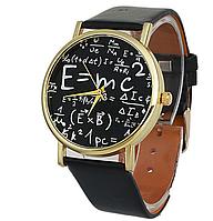 [ Часы наручные E=mc ] Наручные кварцевые часы черные