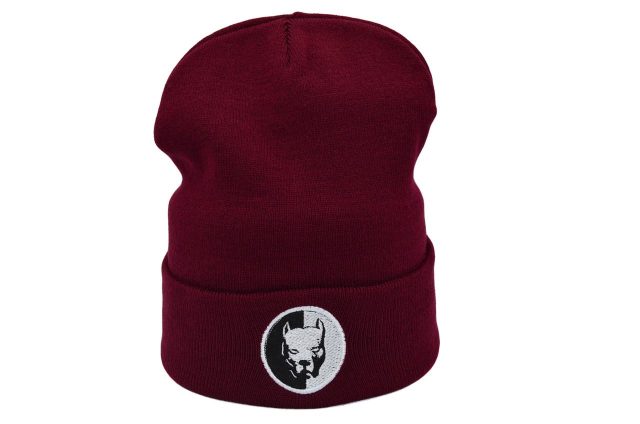 Шапка Hip Hop Shop Pitbull 55-59 см бордовая (H-08118-422)