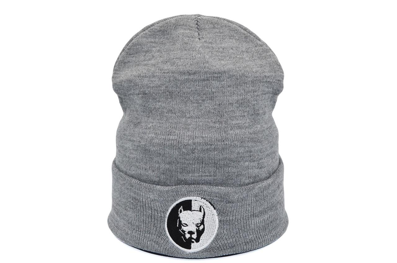 Шапка Hip Hop Shop Pitbull 55-59 см светло-серая (H-08118-424)
