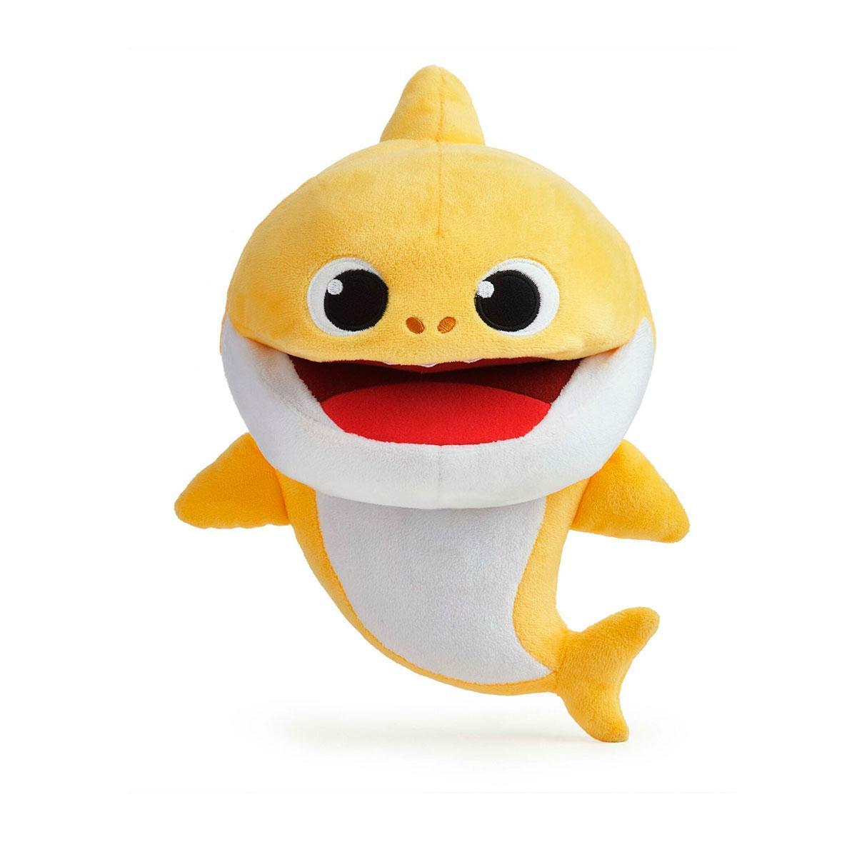 Інтерактивна м'яка іграшка на руку baby shark із зміною темпу відтворення – малюк акулятко
