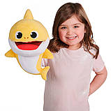 Інтерактивна м'яка іграшка на руку baby shark із зміною темпу відтворення – малюк акулятко, фото 4