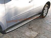 Боковые пороги оригинал в ОЕМ стиле на Mercedes-Benz ML 2006-12