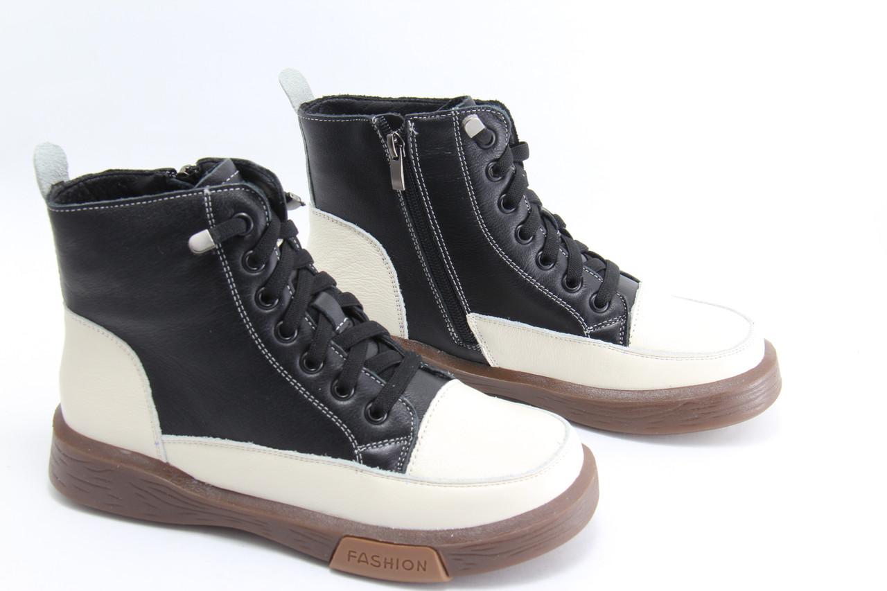 Женские кожаные ботинки MeegoComfort 25-7-black