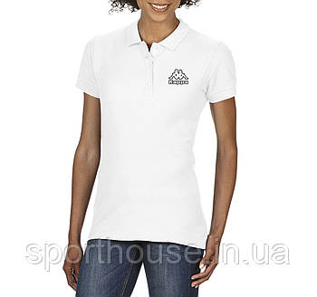 Жіноча бавовняна теніска Каппа (Kappa) з брендовим логотипом, репліка