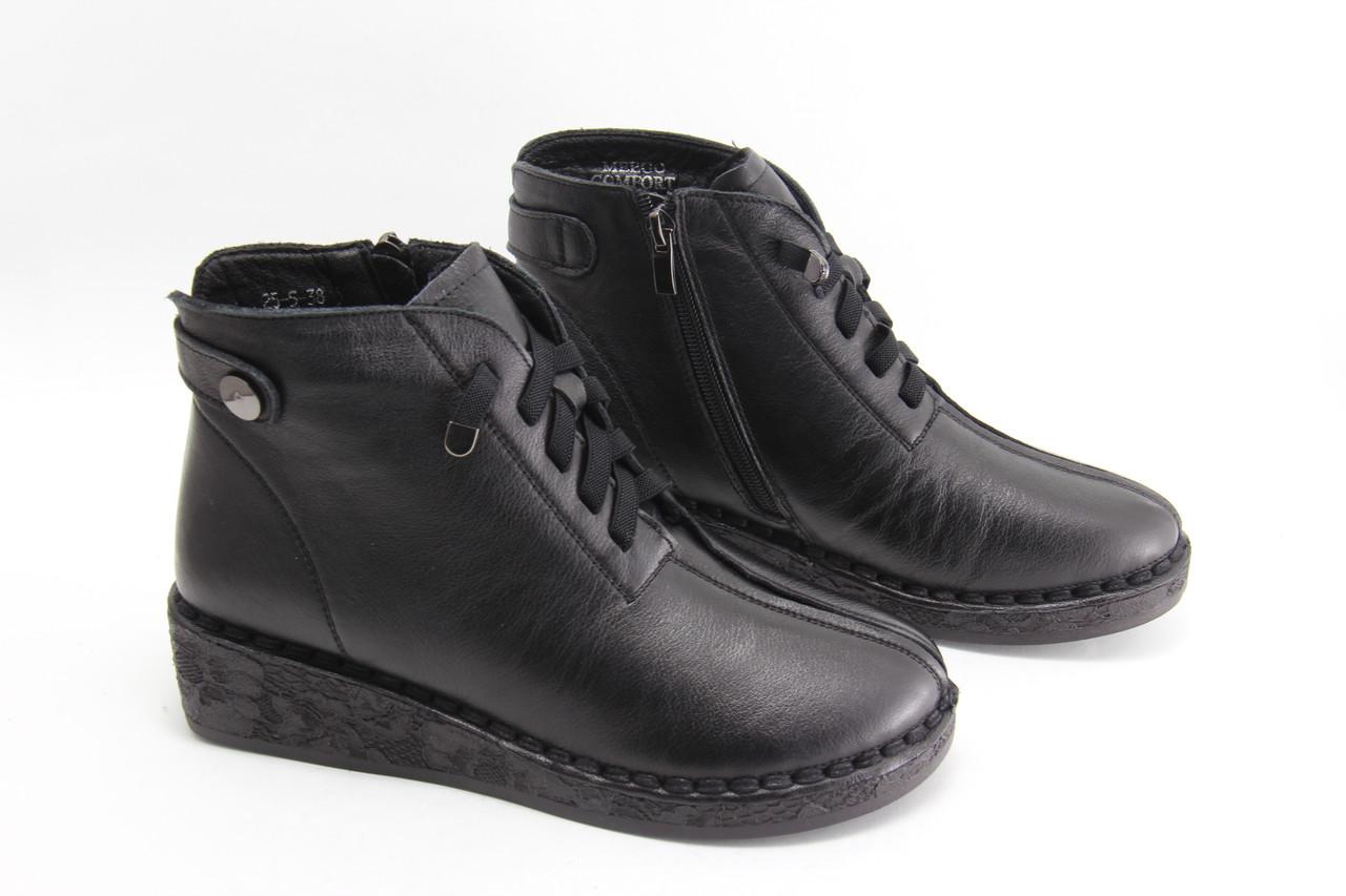 Жіночі шкіряні черевики MeegoComfort 25-5-black
