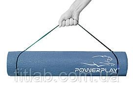 Коврик для йоги и фитнеса PowerPlay 4010 (173*61* 0.6) темно-синий