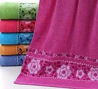 Махровое банное полотенце Цветок на веточке (6)