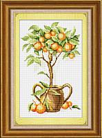 """Набор для рисования камнями (холст) """"Апельсиновое дерево"""" LasKo"""