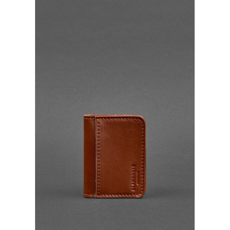 Шкіряна обкладинка для ID-паспорта і водійських прав 4.0 світло-коричнева