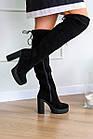 Жіночі ботфорти Fashion Brier 2335 36 розмір, 23,5 см Чорний, фото 5
