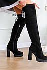 Жіночі ботфорти Fashion Brier 2335 36 розмір, 23,5 см Чорний, фото 6